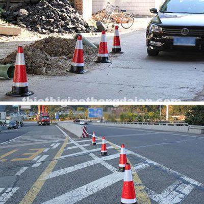 Cọc tiêu giao thông cao su 65cm