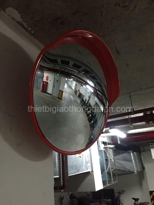 + Gương cầu lồi lắp tại bãi xe, tầng hầm chung cư